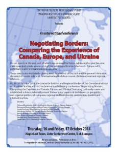 CPRS and CIUS' conference, Negotiating Borders: Comparing the Experience of Canada, Europe, and Ukraine