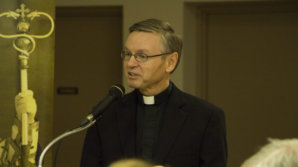 the Most Reverend David Motiuk, bishop of the Ukrainian Catholic Eparchy of Edmonton