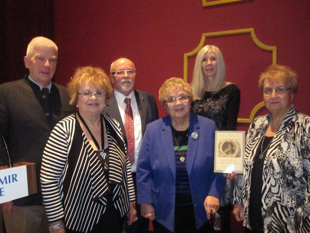 2d row--Paul R. Magocsi, Frank E. Sysyn, Nadia Jacyk     1st row--the late John Yaremko's sisters Rosalie, Lucy, and Jeanette